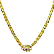 """Kirks Folly Magic Weave 17"""" Chain Magnetic Interchangeable Necklace (Goldtone)"""