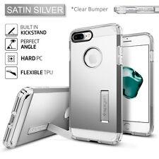 Spigen Apple iPhone 7 Plus Case Tough Armor Shockproof Kickstand TPU Cover Satin Silver