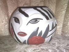 VINTAGE 1980's PartyLite Porcelain Tea Light Candle Holder~ Lady Face Mask