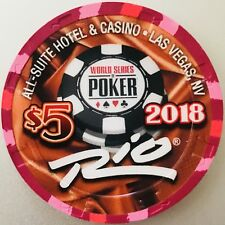 $5 Rio Casino Chip - Las Vegas - WSOP 2018 - The Giant - Poker - RARE - LTD