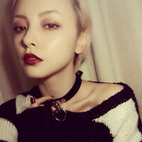 Collar Punk Choker Classic Gothic Necklace Pendant Leather Chain Neck Ring CHI