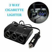 3 Way Multi Car Cigarette Lighter Socket Extension Splitter Charger Double 2 USB