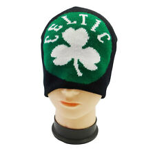 CELTIC BLACK GREEN WITH SHAMROCK FLOWER FIFA SOCCER WORLD CUP TOQUE HAT .. NEW