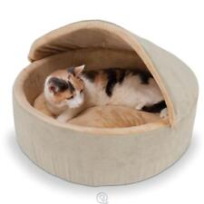 The Small Warming Cat & Dog Covered 4W heated Bed Hood Microfleece Lining