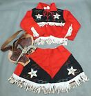 Vintage STRAIGHT SHOOTER Costume COWBOY COWGIRL With STAR CAP & BELT