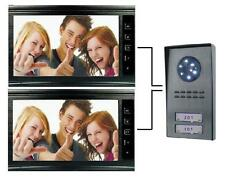 """Videocitofono 9""""(2 monitor + 1 telecamera 2 tasti) Bifamiliare colori Black(185)"""
