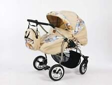 passeggino carrozzina gemellare combo Duet Havana borsa per neonato bambino new