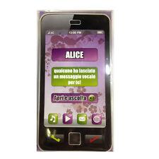 CUMPLEAÑOS tarjeta de cumpleaños musical en teléfono suena secretaría nome ALICE
