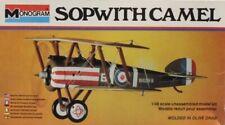 Monogram 1:48 Sopwith Camel Plastic Aircraft Model Kit #5204U