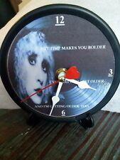 """Stevie Nicks - Landslide - 5"""" Quartz Desktop Clock - Stand & Gift Box Included"""