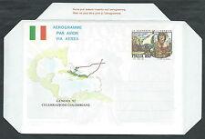 1992 ITALIA AEROGRAMMA SCOPERTA AMERICA PRIMO VIAGGIO DI COLOMBO - ED