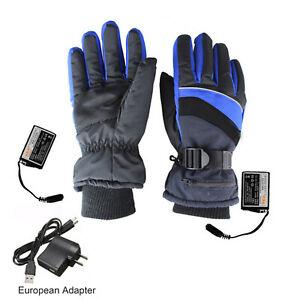 2000 MAh Outdoor USB Electric Heated Winter Warm Waterproof Nylon Skiing Gloves