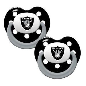 Las Vegas Raiders Baby Pacifier Set of 2 - Officially Licensed NFL BPA Free