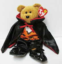 """Ty Beanie Baby  """"Fuzz"""" Bear in Ty Gear COUNT for Halloween*"""