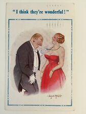 Vintage Comic Postcard - Constance Ltd Signed Donald McGill # 1796 - Sent 1961