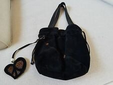 Lucky Brand Black Suede Hobo bag