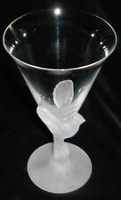 Sasaki WINGS PATTERN Clear Bowl/Frosted Stem 8 oz WINE GLASS