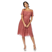 Chi Chi London  Lace Embroidered  Trim Dress  16  20 22  24 Pink