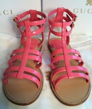 New Girls Gucci Gladiator Pink (Rose Blush) Sandals / Shoes Size 32 UK 13