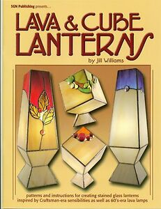 Lava & Cube Lanterns Stained Glass Pattern Book, Books, Lights, Lamps