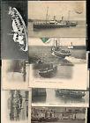 lot de 8 cartes postales bateaux port Granville Jersey
