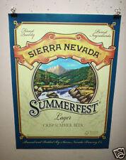 Sierra Nevada Beer Poster Summerfest Craft Micro Beer