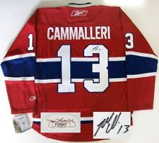 MIKE CAMMALLERI SIGNED MONTREAL CANADIENS JERSEY JSA