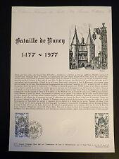 FRANCE MUSEE POSTAL FDC 28-77   LA BATAILLE DE NANCY   1,10F   NANCY  1977