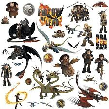 HOW TO TRAIN YOUR DRAGON 31 BiG Wall Decals Toothless Hiccup Astrid Room Sticker