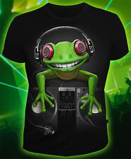 Crazy Frog T-shirt Uv Blacklight Funny Club Dj Rave Trance Edm Festival Clothes