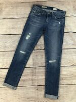 Womens 25 R AG Adriano Goldschmied Jeans The Stilt Cigarette Roll Up Cuffed Jean