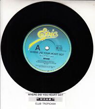 """WHAM Feat. GEORGE MICHAEL Where Did Your Heart Go? Promo 7"""" 45 record NEW RARE!"""