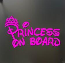 Princess on board sticker JDM funny car pink girl lady love window decal