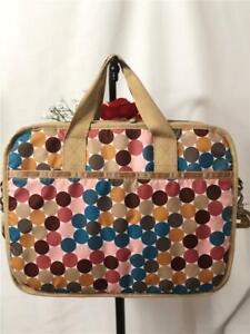 LeSportsac Colorful Polka Dot Messenger Laptop Travel Bag with Shoulder Strap
