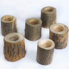 Natural Wood Tea Light Holders Wedding Party Centerpieces Gift Home Decorations