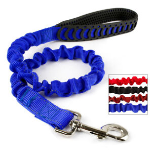 Bungee Elastic Shock Absorbing Dog Leash Reflective Stitching for M/L Dogs Pet