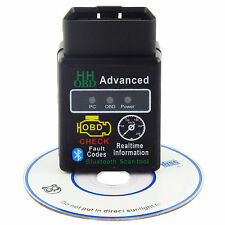 Bluetooth OBDII Scanner Code Reader CAN OBD2 Scan Tool for Torque Android ELM327