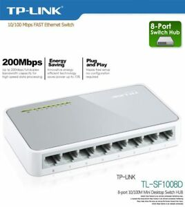 HUB DI RETE SWITCH  TP-Link Switcher Mini Desktop 8-port 10/100M TL-SF1008D