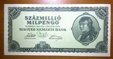 HUNGARY 100 MILLIO, MILPENGO NOTE 1946 IN RARE UNCIRCULATED CONDITION