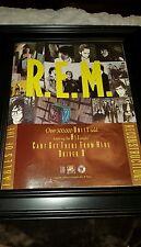 R.E.M. Fables Of The  Reconstruction Rare Original Promo Poster Ad Framed!