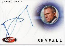 Daniel Craig as James Bond 007 Autographs & Relics Skyfall ON CARD Auto #A228