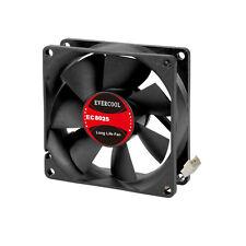 Evercool 80mm 8cm 80 x 80 x 25mm 2 Pin 5 Volt PC case Fan (M) EC8025M05