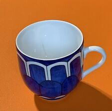 Hermes Paris Porcelaine Bleus D'Ailleurs  Espresso Cup ( Chipped)