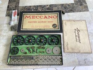 Meccano Set Inventors Accessory Outfit 1915-American.Rare.