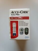 Accu-Chek Aviva Plus Diabetic Blood Glucose Test Strips exp 2021-10 damaged box