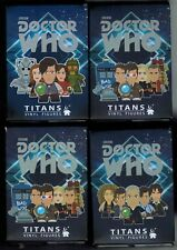 """Doctor Who TITANS blind box lot of 4 Vinyl 3"""" Figures Collect them all NEW"""