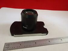 MICROSCOPE PART LEITZ 513571 GERMANY CONDENSER  LENS OPTICS AS IS BIN#E2-A-14