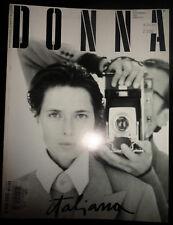 Vtg Italia DONNA 1993 Federico Fellini Heather Stewart Whyte Lucie de la Falaise