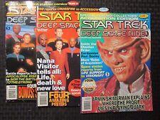 1995 STAR TREK Deep Space Nine Magazine #12 16 18 FN+/FVF LOT of 3 Starlog