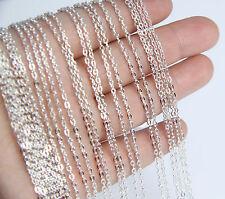 Wholesale Bulk 5 pcs Silver Plated Brilliant Necklace Chain 17.7 inch Quality